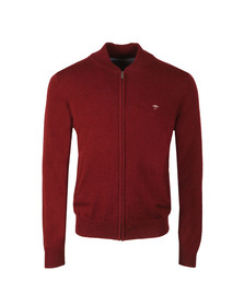 Fynch Hatton Mens Red Full zip Cardigan
