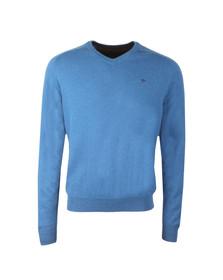 Fynch Hatton Mens Blue Merino Cashmere Jumper