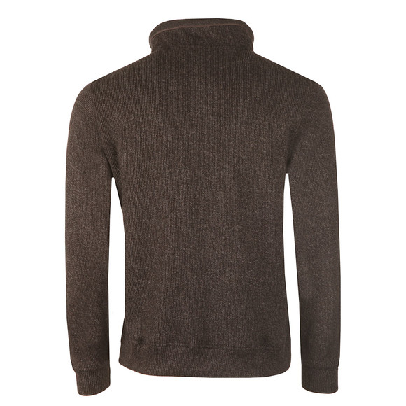 Fynch Hatton Mens Brown 1/2 Zip Troyer Sweat main image