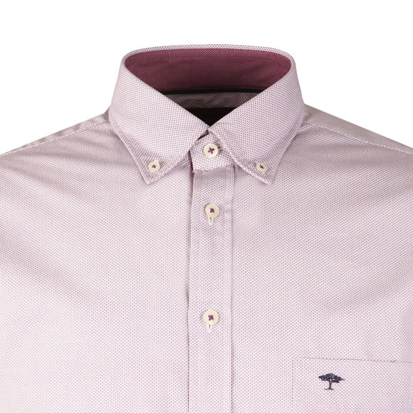 Fynch Hatton Mens Purple L/S Print Shirt main image