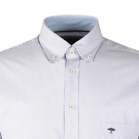 Fynch Hatton Mens Blue L/S Print Shirt main image