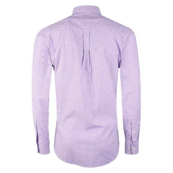 Fynch Hatton Mens Purple L/S Peached Twill  Check main image