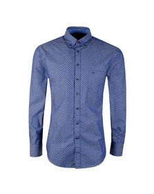 Fynch Hatton Mens Blue Winter Print LS Shirt