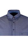 Fynch Hatton Mens Blue Winter Print LS Shirt