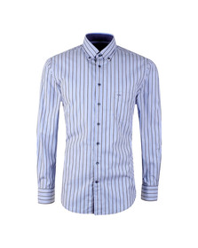 Fynch Hatton Mens Blue LS Combi Stripe Shirt