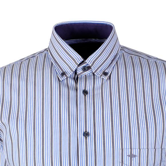 Fynch Hatton Mens Blue LS Combi Stripe Shirt main image