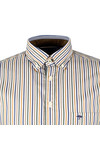 Fynch Hatton Mens Multicoloured Combi Stripe LS Shirt