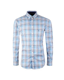 Fynch Hatton Mens Multicoloured Combi Check LS Shirt