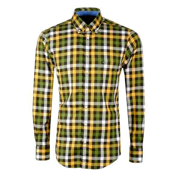 Fynch Hatton Mens Multicoloured LS Multi Combi Check Shirt main image