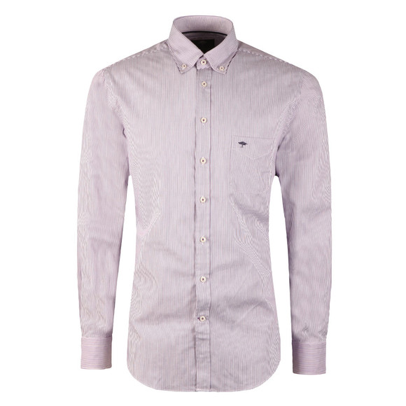 Fynch Hatton Mens Purple Stripe LS Shirt main image