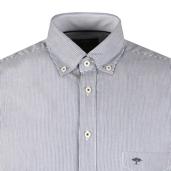 Fynch Hatton Mens Blue Stripe LS Shirt main image