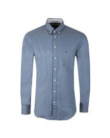 Fynch Hatton Mens Blue Plain LS Shirt