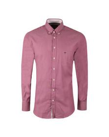 Fynch Hatton Mens Purple Plain LS Shirt