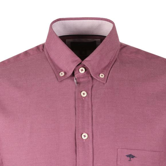 Fynch Hatton Mens Purple Plain LS Shirt main image