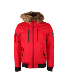 Good For Nothing Mens Red Arctic Bomber Parka