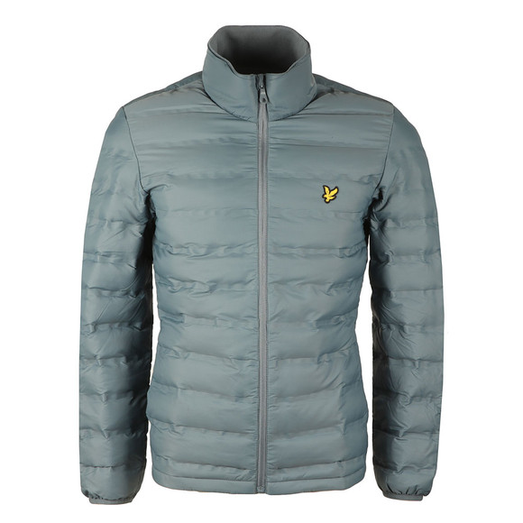 Lyle and Scott Mens Blue Wadded Funnel Neck Jacket main image