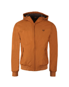 Fred Perry Mens Brown Quilted Hooded Brentham