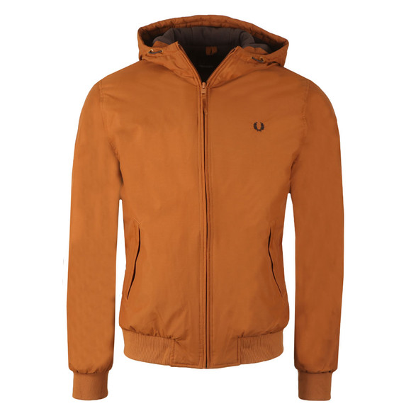 Fred Perry Mens Brown Quilted Hooded Brentham main image