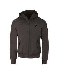 Fred Perry Mens Black Quilted Hooded Brentham