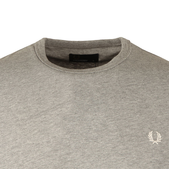 Fred Perry Mens Grey S/S Blocked Panel Tee main image