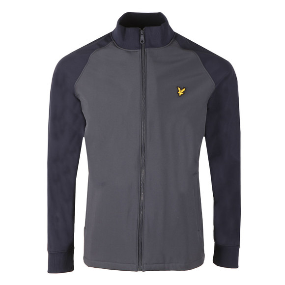 Lyle and Scott Mens Blue Funnel Neck Soft Shell Jacket main image