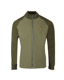 Lyle and Scott Mens Green Funnel Neck Soft Shell Jacket