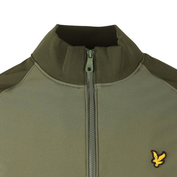 Lyle and Scott Mens Green Funnel Neck Soft Shell Jacket main image