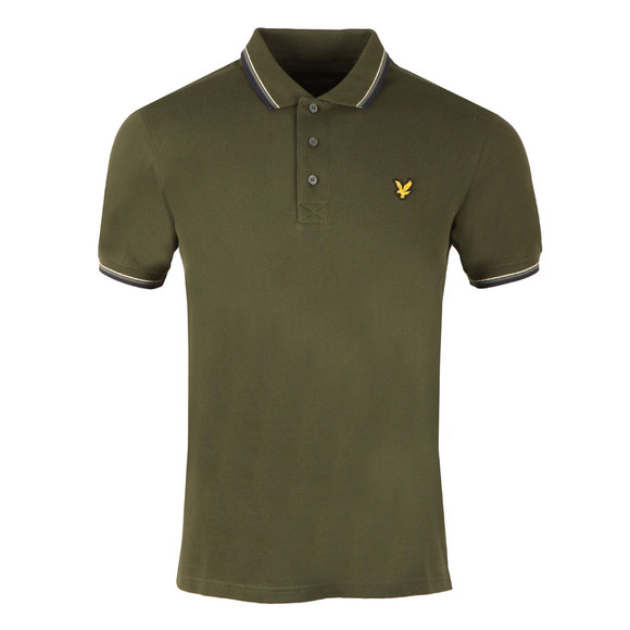 Lyle and Scott Mens Green S/S Tipped Polo main image
