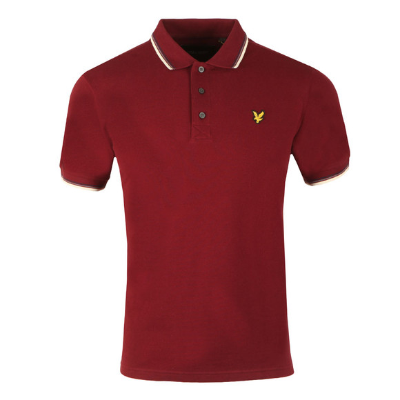 Lyle and Scott Mens Red S/S Tipped Polo main image