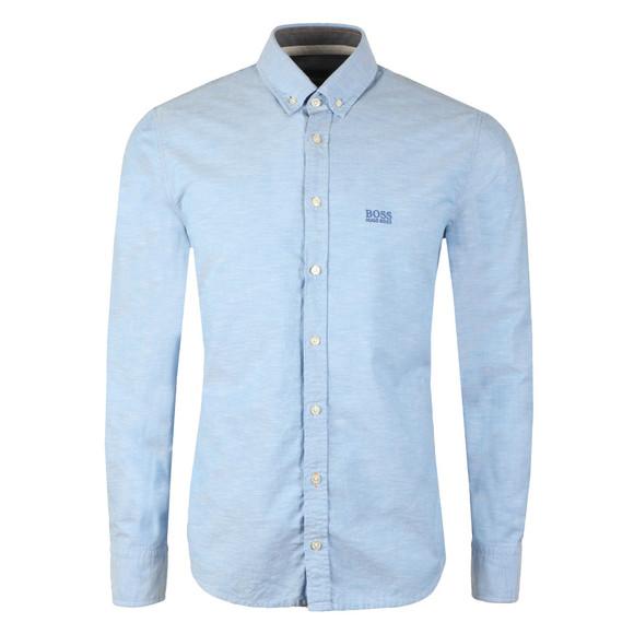 BOSS Mens Blue Casual Epreppy Shirt