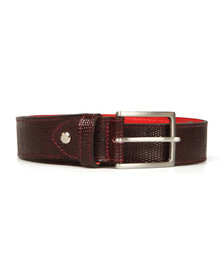 Jeffery West Mens Red Tejus Leather Belt
