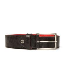 Jeffery West Mens Blue Tejus Leather Belt