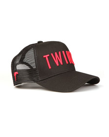 Twinzz Mens Black Mesh Trucker Cap