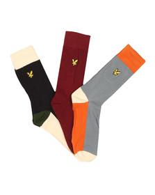 Lyle and Scott Mens Multicoloured Multi 3 Pack Socks
