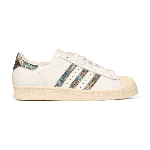 Adidas Originals Womens White Superstar 80s Trainer main image