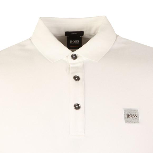 BOSS Mens White Casual Passenger Polo Shirt