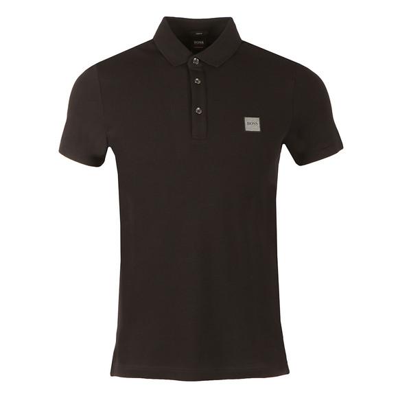 BOSS Mens Black Casual Passenger Polo Shirt
