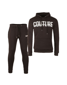 Fresh Couture Mens Black Overhead Full Tracksuit