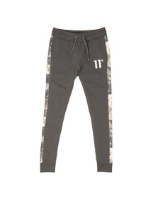 Eleven Degrees Mens Grey Printed Joggers