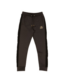 Kings Will Dream Mens Black Searles Velour Panel Poly Jogger