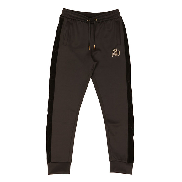 Kings Will Dream Mens Black Searles Velour Panel Poly Jogger main image