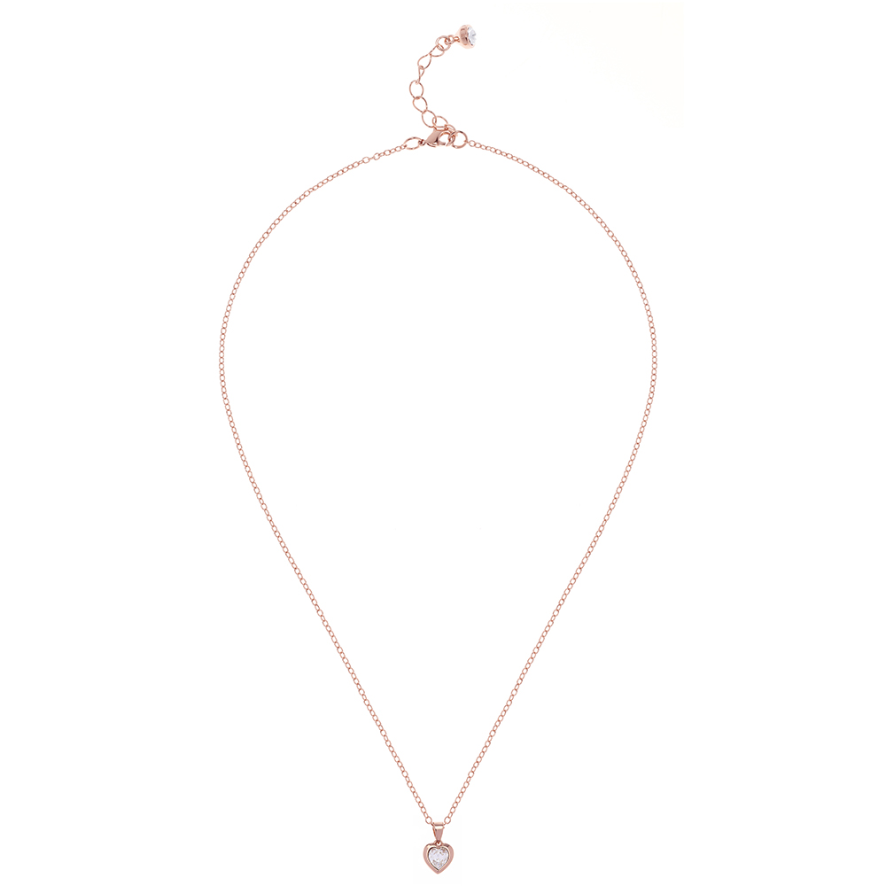 Rose Gold Hannela Crystal Heart Pendant main image