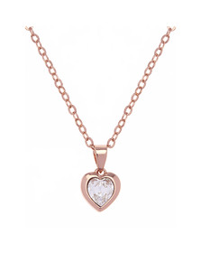Ted Baker Womens Pink Rose Gold Hannela Crystal Heart Pendant