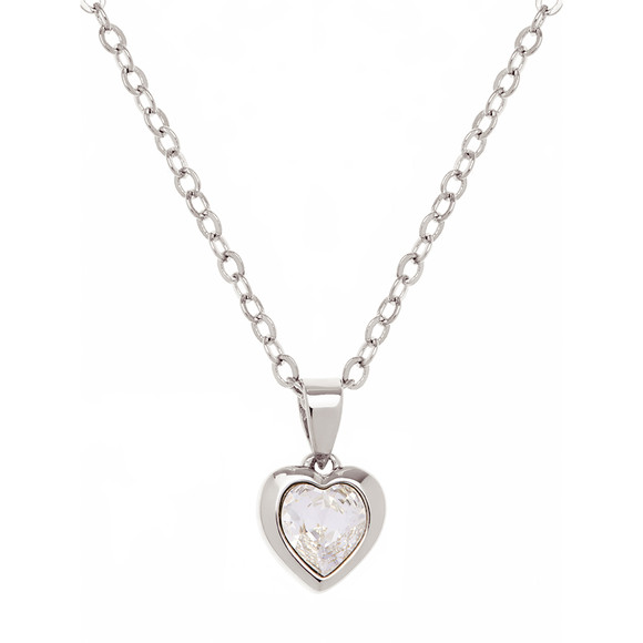 Ted Baker Womens Silver Hannela Crystal Heart Pendant main image