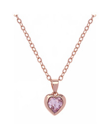 Ted Baker Womens Pink Hannela Crystal Heart Pendant