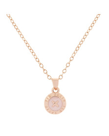 Ted Baker Womens Pink Rose Gold Elvina Enamel Mini Button Pendant