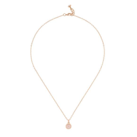 Ted Baker Womens Pink Rose Gold Elvina Enamel Mini Button Pendant main image
