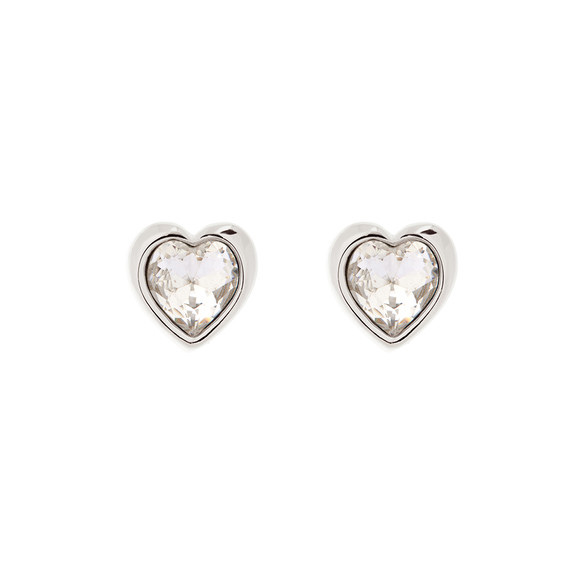 Ted Baker Womens Silver Han Crystal Heart Earring main image