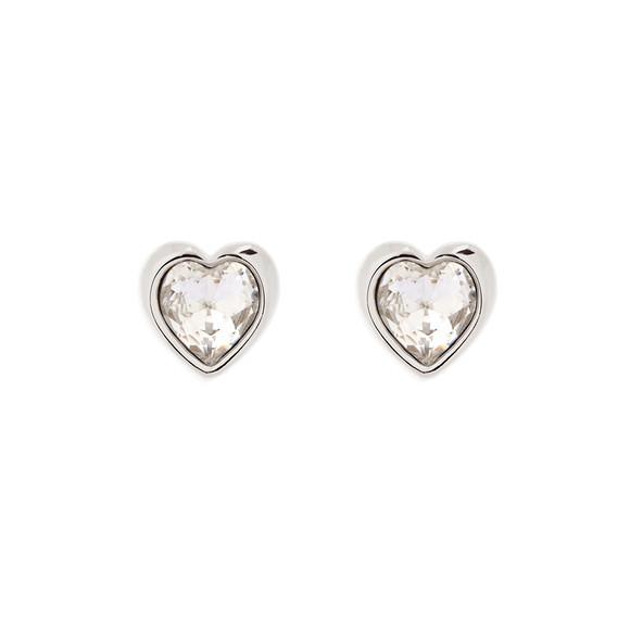 Ted Baker Womens Silver Han Crystal Heart Earring