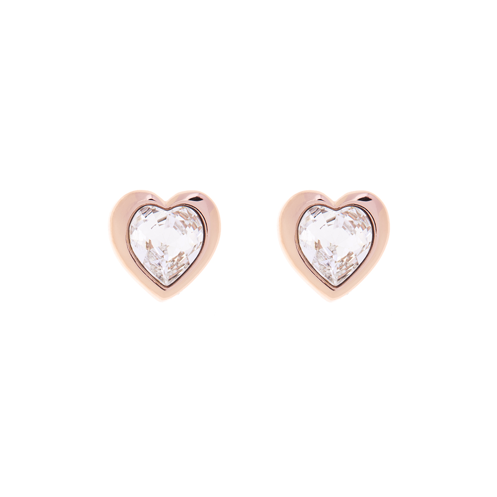 Rose Gold Han Crystal Heart Earring main image